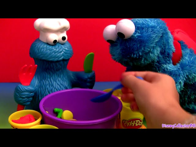 Play Doh Chef Cookie Monster Letter Lunch Learn the ABC Alphabet With Cookie Monster Play Dough Travel Video