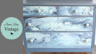 How To Paint Pour Furniture With Milk Paint