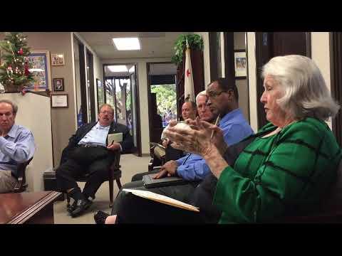 Small Business Advisory Council with California Senator John Moorlach. November 28, 2017. 9:30-11:00