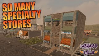 SO MANY SPECIALTY STORES | Darkness Falls MOD 7 Days to Die | Let's Play Gameplay Alpha 16 | S01E08
