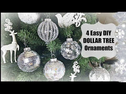 DIY DOLLAR TREE | CHRISTMAS GLAM ORNAMENTS | HOME DECOR EASY DECORATION CRAFT