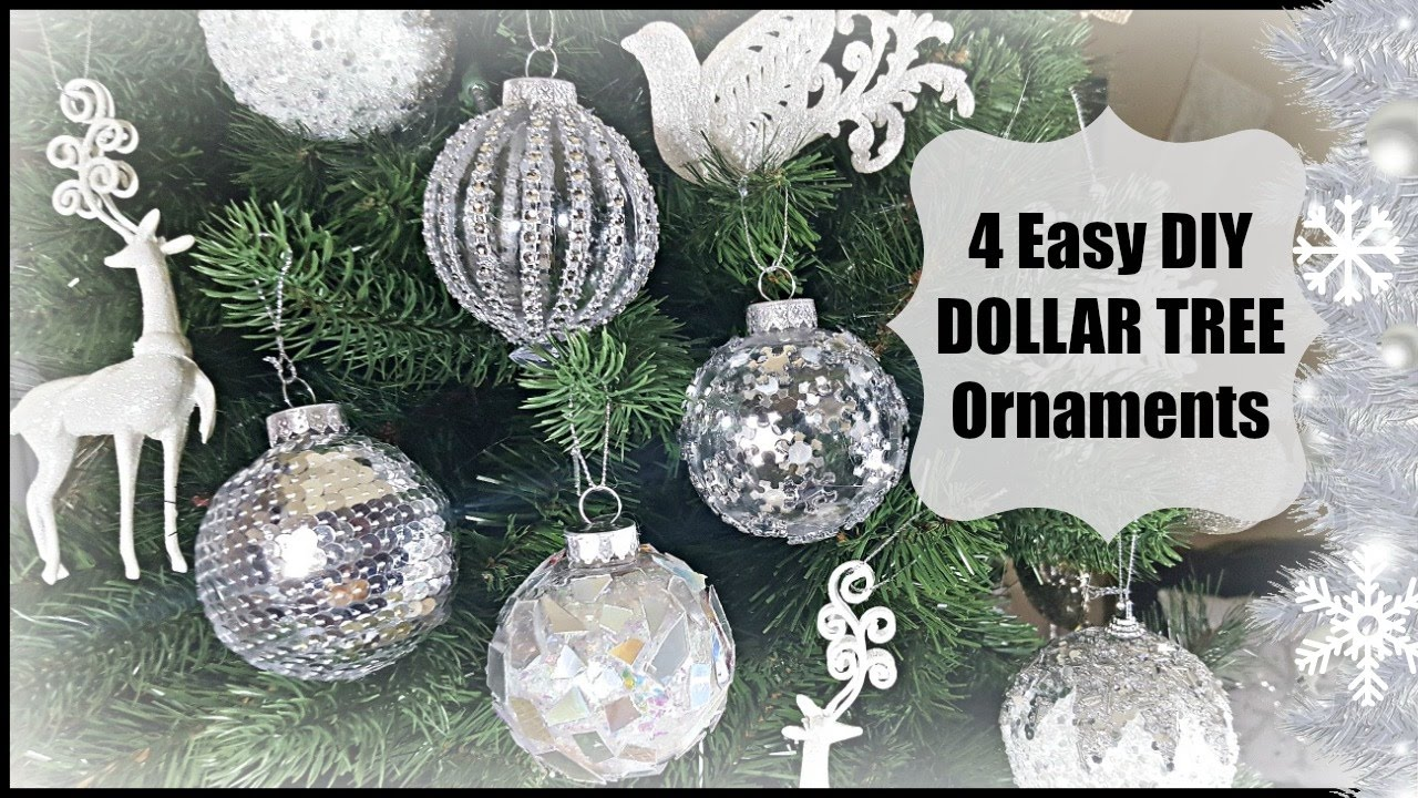 Diy Dollar Tree Christmas Glam Ornaments Home Decor Easy Decoration Craft Youtube