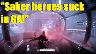 "Star Wars Battlefront 2 - ""Lightsaber heroes suck in Galactic assault!"" 