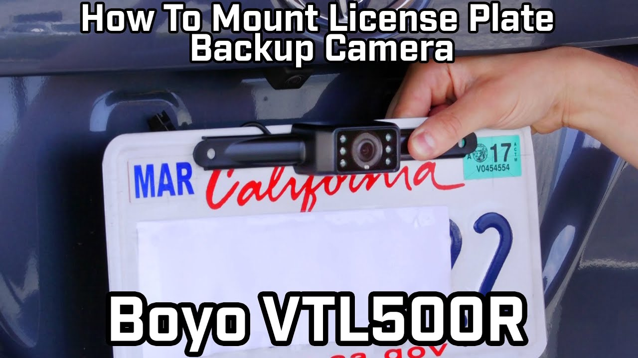 Boyo VTL500R License Plate Backup Camera with WiFi and Smartphone  Connectivity