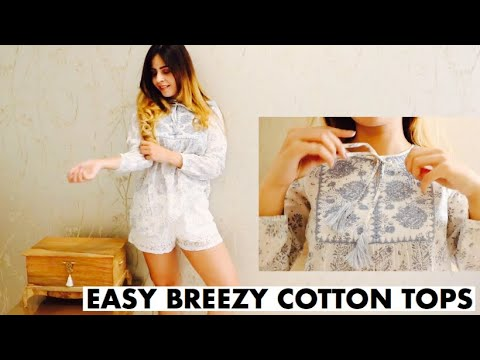 Easy Breezy Cotton Tops | Summer 2019 | Outfit Ideas for college/office 2