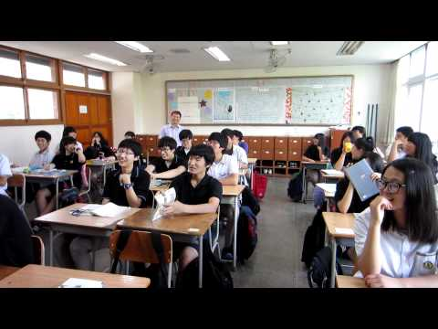 My attempt at a self-introduction at a Korean High School