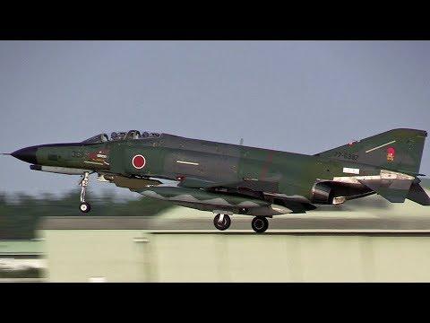 RF-4 Phantom Landing 501SQ JASDF Hyakuri Airbase 3rd Mission 航空自衛隊百里基地