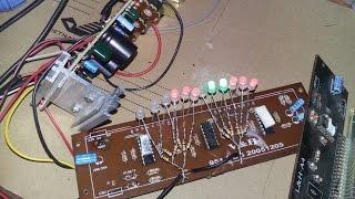 [VỌC SỸ DIY] Chế led nháy theo nhạc 2 kênh cực đẹp bằng mạch quắc âm ly cũ hỏng - Phần 1