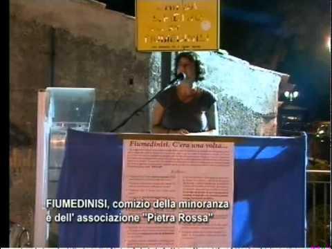 Comizio Fiumedinisi 2010 - 1° intervento - Anna Giordano