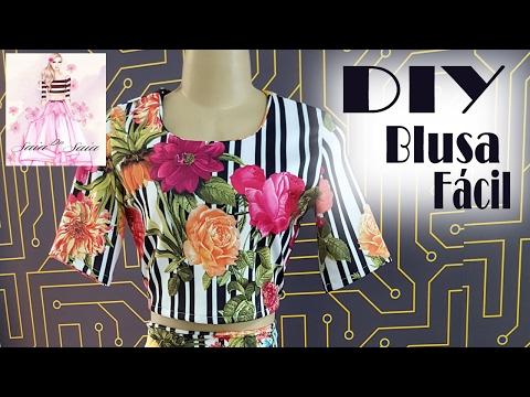 DIY - Blusa Muito Fácil + Molde - Curso de Corte e Costura - Passo a Passo