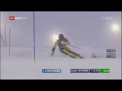 Andre Myhrer 2nd run Men's Slalom - Levi FIS Alpine Skiing World Cup 2017