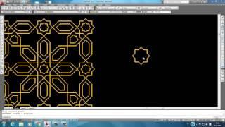 AutoCAD 6.ders DESEN( rectangle MİRROR COPY ROTATE MOVE  array boundray)
