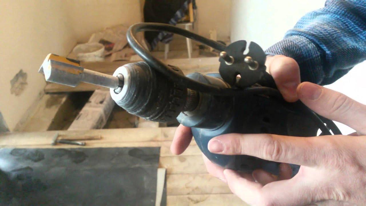 Штроборез для газобетона - дрель+фреза