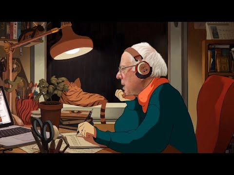 lofi hip hop but also bernie sanders radio - beats to study/relax to