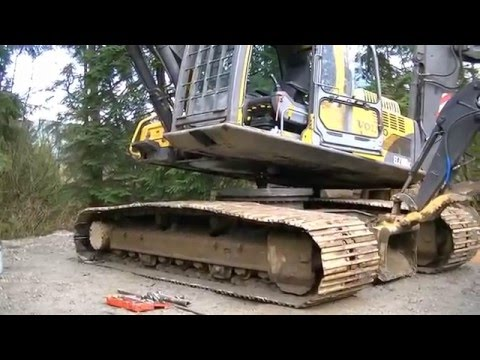 Excavator Swing Bearing Replacement - YouTube