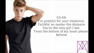 Justin Bieber All That Matters Instrumental Lyrics