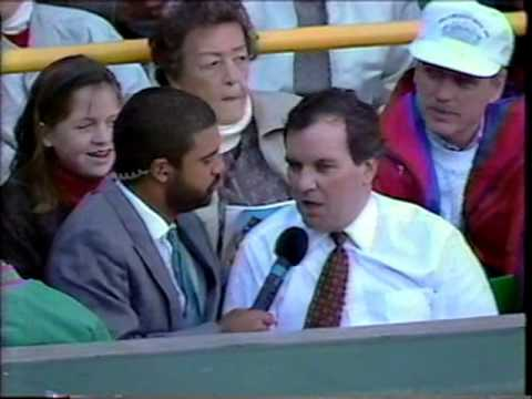 September 1990 - Chicago Mayor Richard M. Daley Attends Last Game at Comiskey Park
