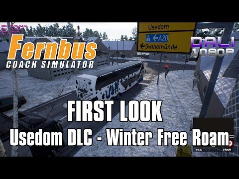 Fernbus Simulator - FIRST LOOK Usedom DLC Winter Free Roam p