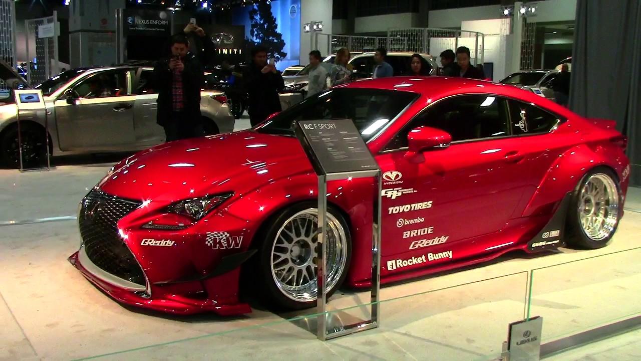 lexus rc f sport 2018-2017 washington dc auto show 2017 - youtube