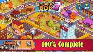 Robbery Bob 2 Gameplay - Chapter Shamville - 100% Complete screenshot 2