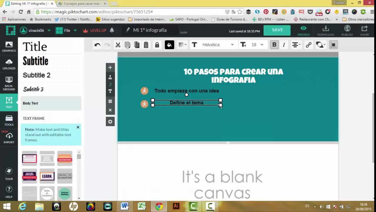 67ddf50f3bdb3 Manual como hacer una infografía online en 5 pasos - YouTube