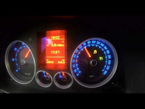 0 - 100 acceleration VW Golf 5 - 2.0 TDI @ 220 hp / 455 Nm