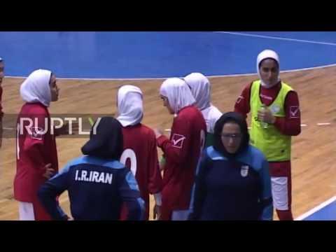 Iran: Russian women's futsal team dons hijab for two matches in Tehran