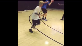 Justin Bieber basketball scored ! basketball highlight.