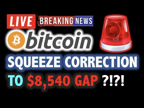 BITCOIN SQUEEZE CORRECTION TO $8,540 GAP ?! 💥LIVE Crypto Analysis TA & BTC Cryptocurrency Price News