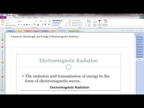 Frequency, Wavelength, and Energy of Electromagnetic Radiation