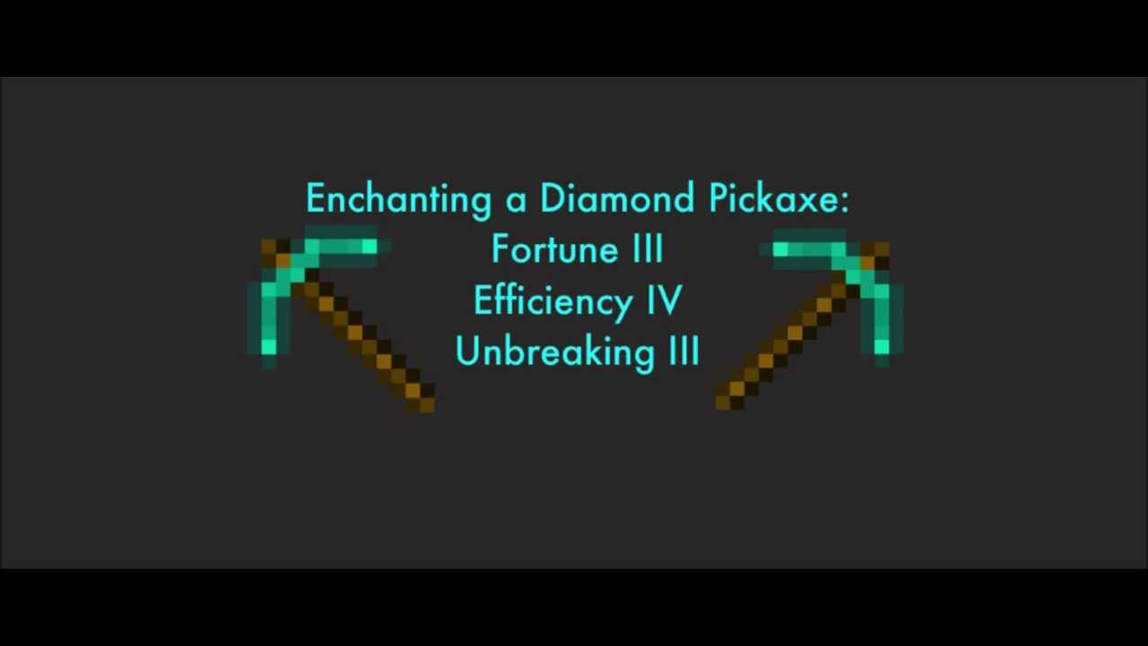 minecraft fortune 3 diamond pickaxe