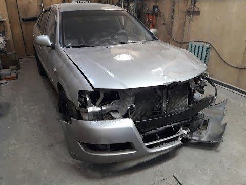 Ремонт и покраска передка.Ниссан альмера Nissan Almera