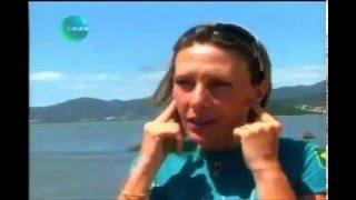 Karol Peixe Mergulho em apneia na Ilha de Florianopolis