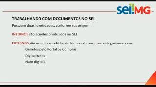 SEPLAG-MG: Capacitação SEI Processo de Compras