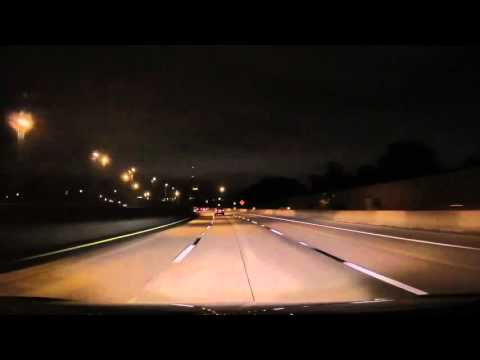 Driving on I95 through Jacksonville, Florida at 3AM