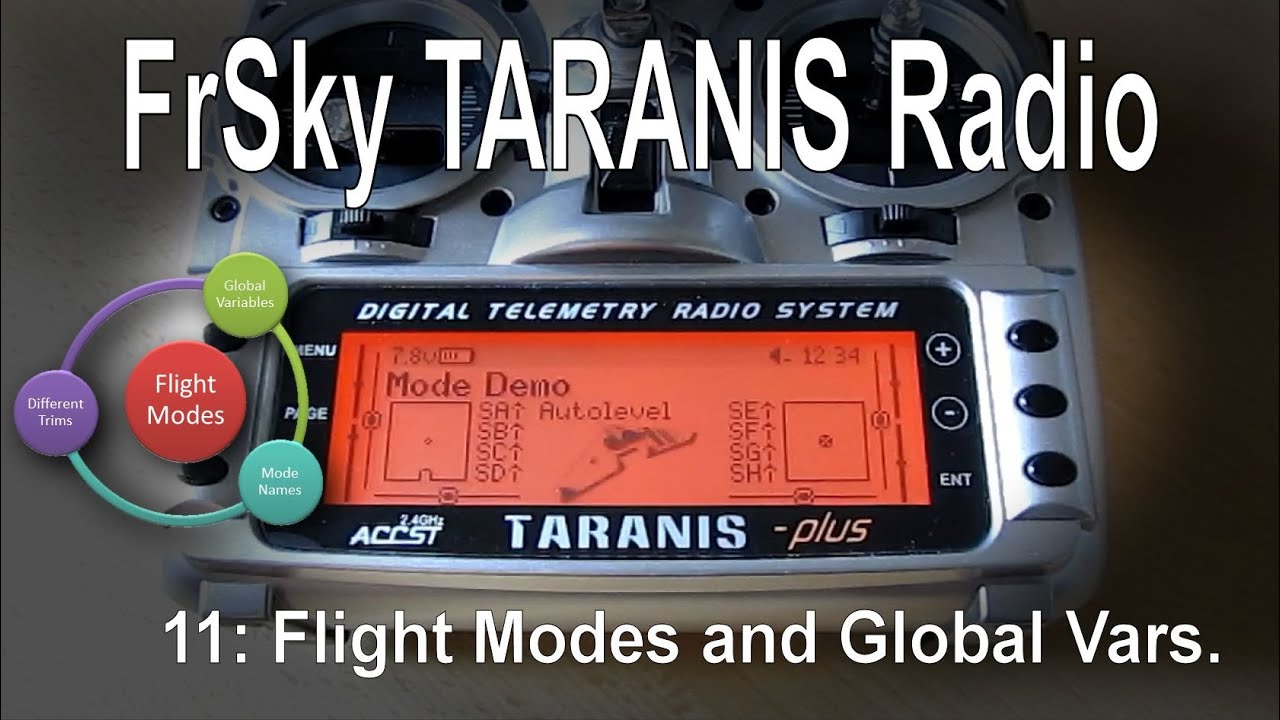 (11/12) FrSky TARANIS Radio – Using Flight Modes and Global Variables  (GV/GVR)