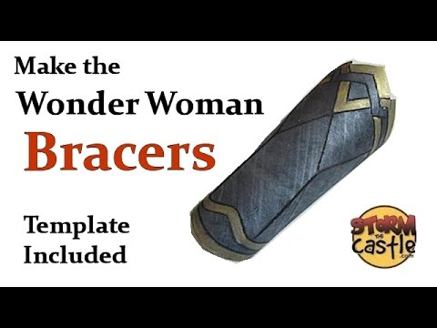 Make the wonder woman bracers template included youtube make the wonder woman bracers template included pronofoot35fo Choice Image