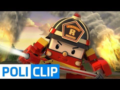Rescue team VS Big fire   Robocar Poli Rescue Clips