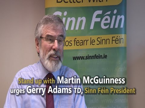 Stand with Martin McGuinness urges Gerry Adams