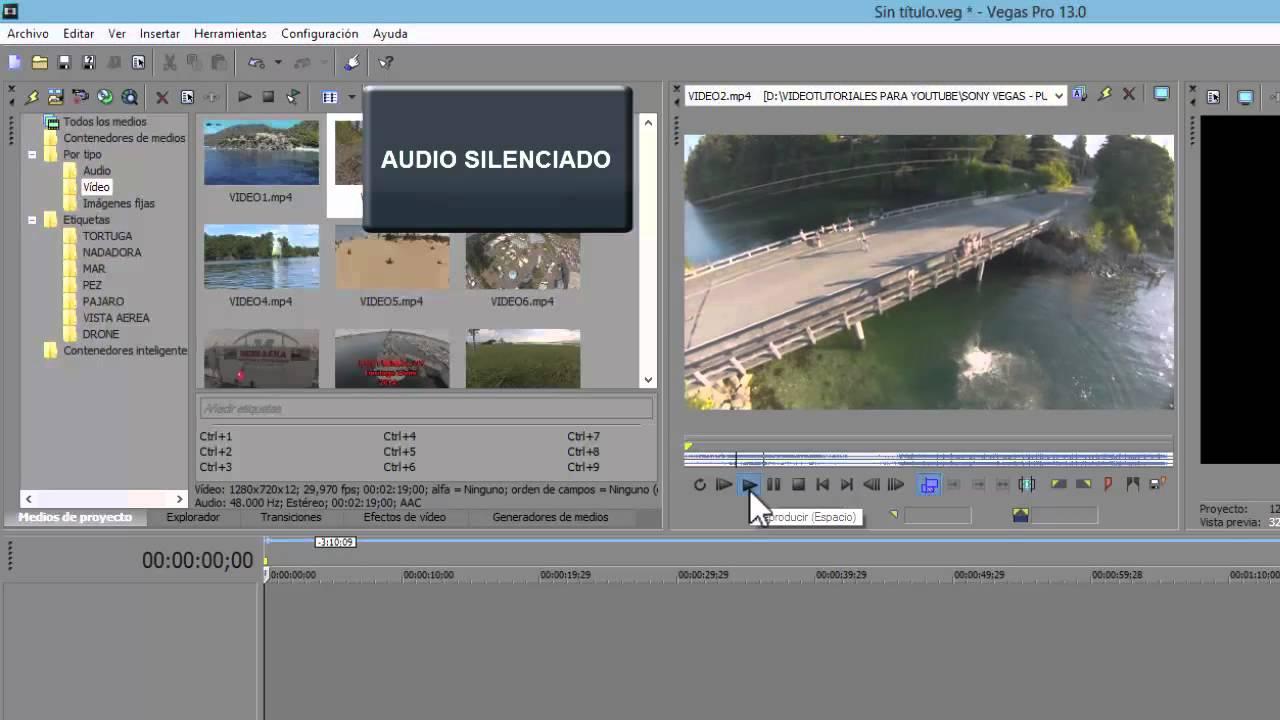Sony Vegas 13 Uso De La Recortadora Separar Audio Y Fotogramas Clave Keframes Para Imagenes Youtube