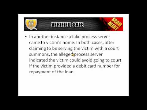 Telephone Collection Scam Related to Delinquent Payday Loans