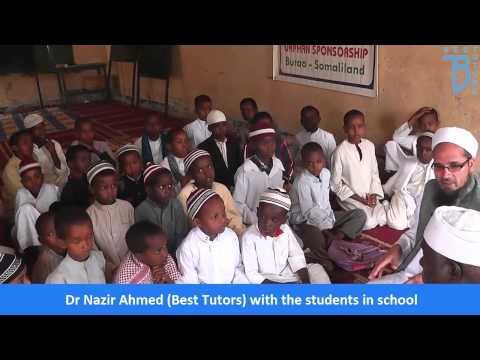 Dr Nazir Ahmed Best Tutors visit to Somali Land   April 2015 Visiting Orphanage