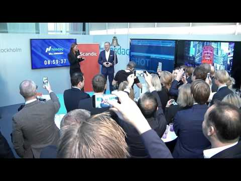 Scandic listing ceremony at Nasdaq Stockholm