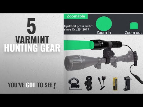 Top 10 Varmint Hunting Gear [2018]: Ulako Green Light 300 Yards Spotlight Flood Light Zoomable