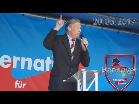 Armin Paul Hampel, 20.05.2017 AfD Wahlkampfauftakt in Hannover, Alternative für Deutschland