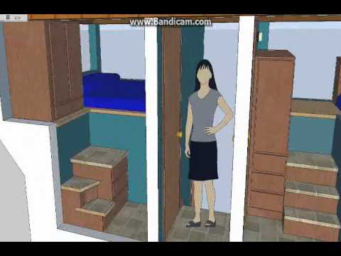 split level 5 room tiny house; tiny house design sketchup - youtube