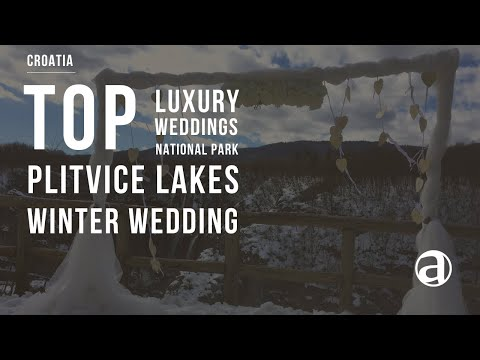 Winter Wedding at Plitvice Lakes National Park | Luxury Weddings in Croatia | Concierge antropoti
