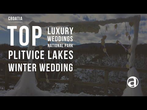 Winter Wedding at Plitvice Lakes National Park | Luxury Weddings in Croatia | Concierge antropoti