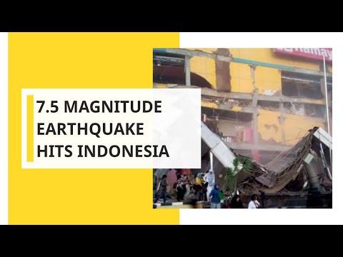 Earthquake of 7.5 magnitude hits remote area of Indonesia