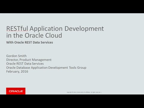 RESTful Application Development in the Oracle Cloud